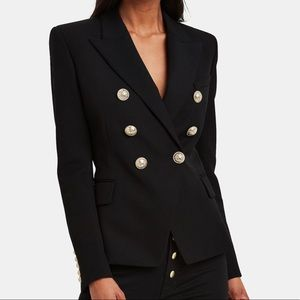 Balmain Classic Double-Breasted Wool Blazer